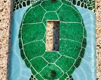 Green Sea Turtle  Light Switch Cover