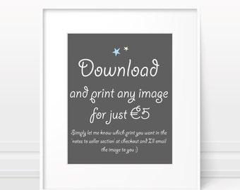Printable nursery art - art download, nursery download, nursery printable, baby room wall decor