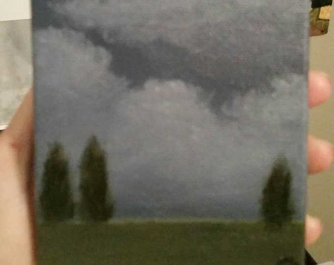 Cypress - Oil Painting