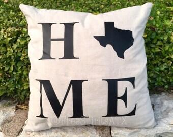 Throw Pillows/Pillow Covers/Throw Pillow/State Pillow/Home Pillow/State Pillows/State Pillow Cover/Home Pillow Cover/Pillow Case/Home Throw