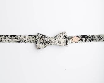 Boho Floral Bow Tie, Wedding Floral Bow Tie, floral bow tie, Juniper Floral Bow Tie, black and white floral