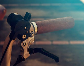 Wooden Bicycle / Brompton (Rack) Grips - Mahogany