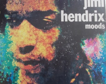 Jimi Hendrix, Moods, Vintage Record Album, Vinyl LP, 1982 Release, Classic Rock, Guitar Legend, Tragic Life, Instrumental Rock Music