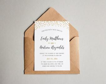 Wedding Invitation Template - Printable Wedding Invitation - Editable Wedding Template - Instant Download - Confetti Collection
