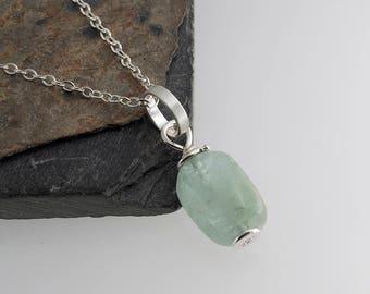 Light Prehnite Stone Necklace Green Prehnite Stone Necklace,Modern Necklace,Stone Necklace,Smooth stone,Gift,Handmade Necklace
