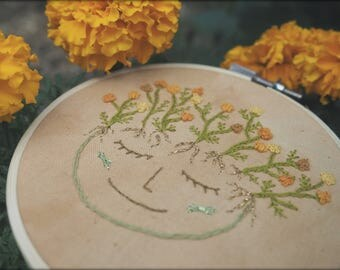 Marigold Witch Embroidery | Hoop Art |