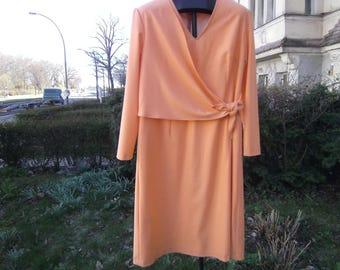 orange Dress - Wooldress -     Plus Size Clothing -  long sleeves Dress - Dress big Sizes - handmade Dress - Dress  Size  46 - XXL