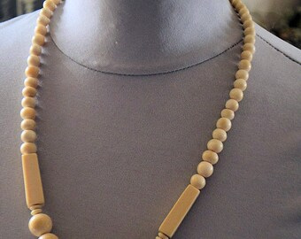 Antique french bone necklace, 1950S