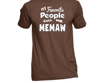 MeMaw T-Shirt (Any Name) - MeMaw Shirt - Grandma TShirt - Grandma Gift - Grandma To Be - Grandma T Shirt - New Grandma