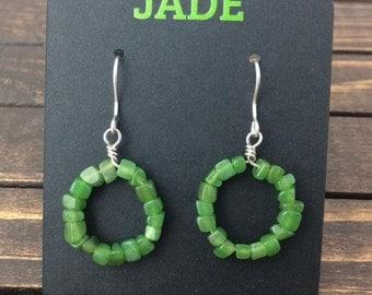 Canadian Nephrite Jade Earrings, 2812