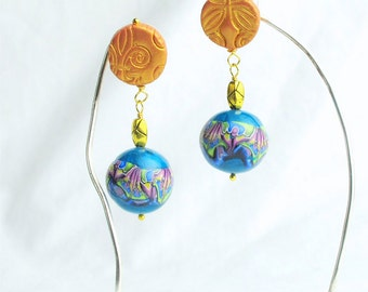 Cute & Colorful Polymer Clay, Post Earrings