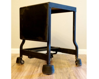 Mid Century Tiffany Typewriter Stand   Tiffany Typewriter Desk   Urban Loft  Home Decor, Metal