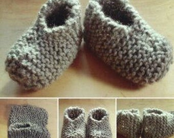 Baby booties in wool (various colors)