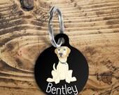 Labrador Dog name tag, cu...
