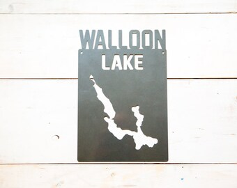 Walloon Lake Steel Map Michigan