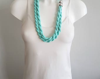 T shirt necklace, fabric necklace, cotton fabric necklace, t shirt scarf