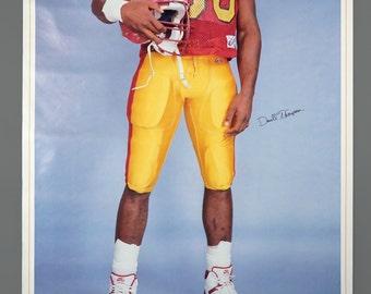 1989 Darrell Thompson University Of Minnesota Poster NFL Extra Large 25 x 48 Vintage