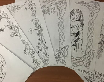 BOS Coloring Pages ~ Yule Pack