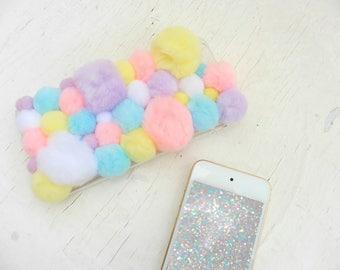Custom Kawaii Pastel Pom Pom Phone Case