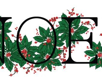 Christmas ''NOEL'' Digital Clip Art