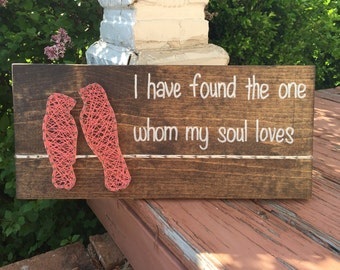 MADE TO ORDER Love Birds String Art Sign