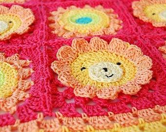 Crochet baby blanket pattern /Blanket pattern/Baby patterns/ Animal baby blanket/Lion Crochet baby/Pdf crochet pattern/Crochet baby pattern