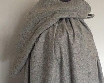 Grey renfair woollen hooded cloak, renaissance, medieval, cosplay long cloak.