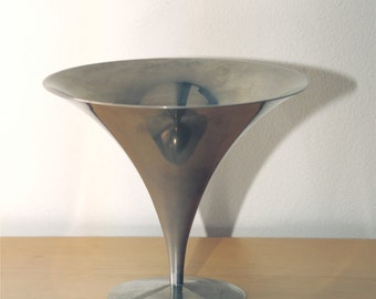 Mid Century, Polished Chrome, Arthur Salm, Danish, Steel, Modernist, Candy Compote, Dish, 1950s