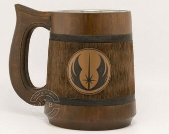 Star wars gifts. Star wars mug 23oz. Jedi logo mug. Star wars gift. Starwars gifts. Starwars stuff. Best star wars gift, Beer mug