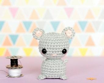 Mini crochet mouse doll, Crochet amigurumi animals doll, Crochet plush mouse, Amigurumi crochet animals, Cute plush animals, Knit mouse
