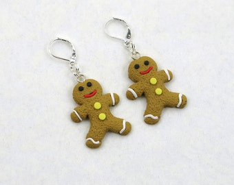 Gingerbread Men Holiday Dangle Earrings (Item #304)