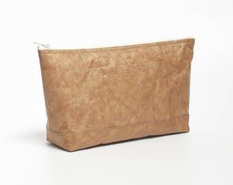 Minimalist Tyvek Paper Makeup Bag, Lightweight Makeup Bag / Cosmetic Bag / Toiletry Bag / Pouch, Personalized Tyvek Paper Makeup Bag