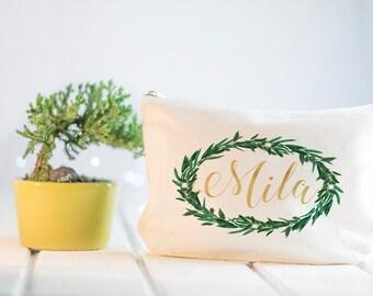 Boho Wedding, Green Floral Wreath, Greenery Wedding, Hipster Wedding, Eucalyptus, Garden Wedding, Bridesmaid Gift, Botanical, Green Leaves