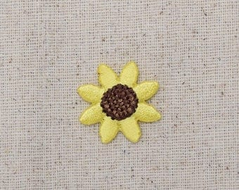 Sunflower - Small - Yellow Flower - Iron on Applique - Embroidered Patch - WA82