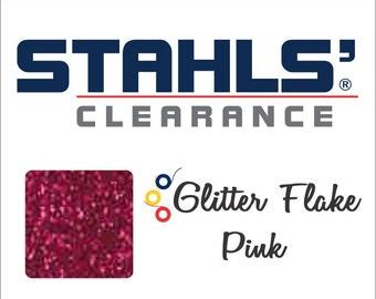 "7"" Stahls' Glitter Flake - Craft Roll - Iron-On Heat Transfer Vinyl - HTV - Pink"