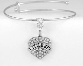 Lil Sis Bracelet Lil Sis Jewelry Lis sis Charm Little sister Bracelet Little sister Bracelet Lil sis Gift Best lil sister European Style