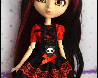 Dress for Blythe, Pullip Doll and Obitsu size M.