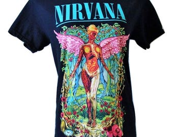 Vtg Nirvana/Beautiful Graphics/Discontinued Design/Fits Close to: S-S/M
