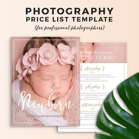 Newborn Photography Price List Template - Newborn