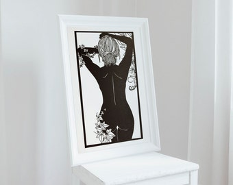 Silhouette Art / Nude Art / Papercut Art / Female Nude Art / Nude Woman Art / Female Nudes / Figurative Art / Feminine Art / Cut Paper Art
