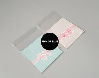 10 Pink or teal cellophane cookie bags, blue cake bags, clear cello bag, sweet packaging, cooking supplies, bakery gift wrap, cute kawaii