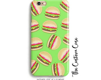 Cheeseburger IPhone Case, Fast Food Phone Case, Iphone 4/5/6/6+/7/7+, Samsung S4/S5/S6/S7/S8/S8 PLUS