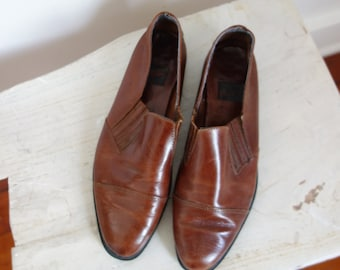 Aerosoles brown leather flats 6.5