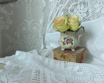 Stunning antique lace tablecloth
