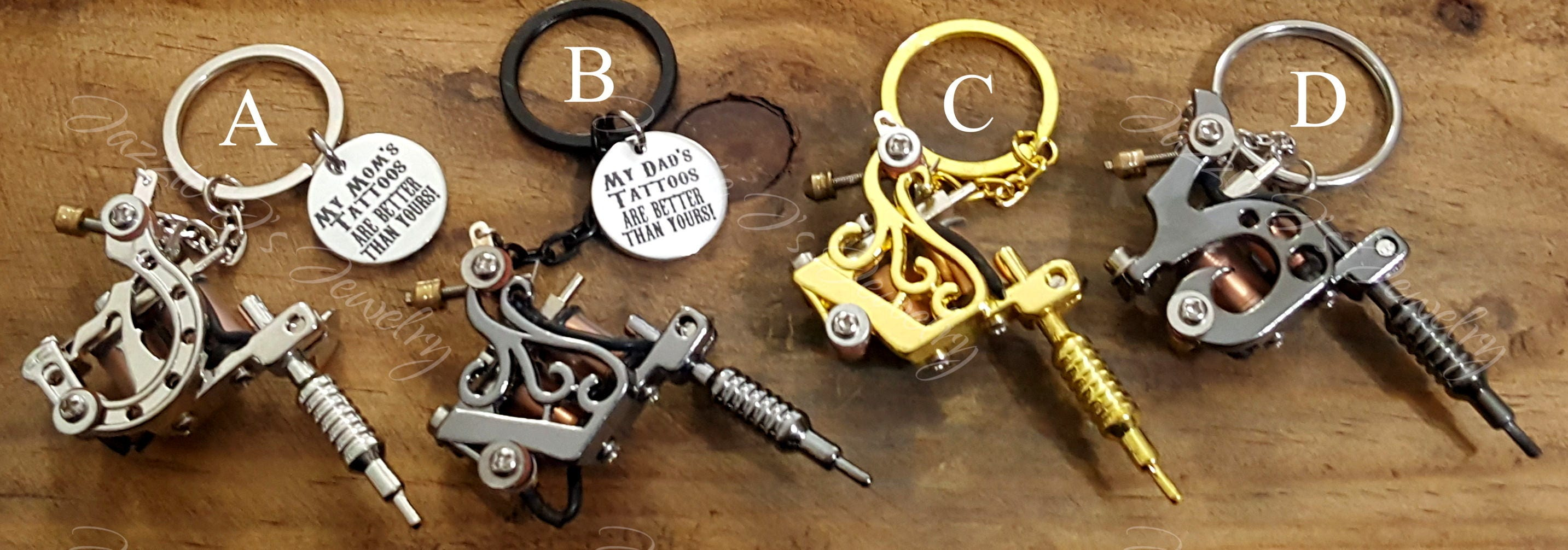 3d tattoo gun keychain tattoo artist keychain tattoo lover for Gifts for tattoo artist