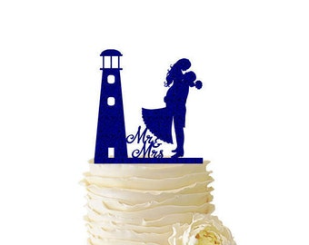 Glitter Lighthouse with Groom Lifting Bride - Wedding - Engagement - Anniversary - 126