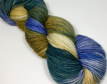 Indie Dyed MCN DK yarn, 231 yards / 100 grams.  Hand dyed for your next knitting, crochet or weaving project.