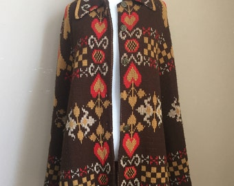 Vintage Knitted Cape/Poncho