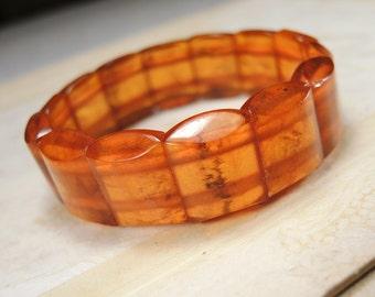 Vintage Baltic Amber Bracelet from USSR 22gr