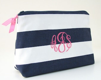 Monogrammed Makeup Bag - Personalized Cosmetic Bag - Monogrammed Clutch - Personalized Gifts for Her